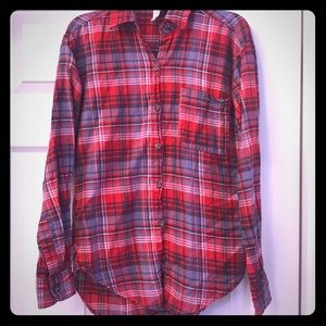 Mimi Chica Red plaid shirt EUC